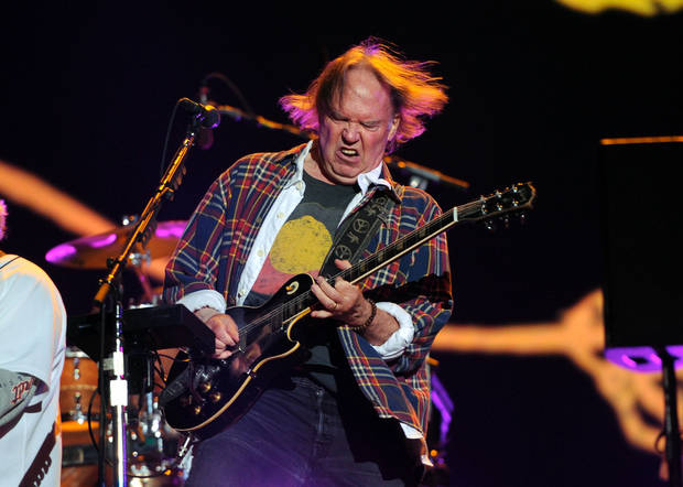 Neil Young performs with his band Crazy Horse at the Global Citizen Festival in Central Park on Sept. 29 in New York. AP PHOTO <strong>Evan Agostini</strong>