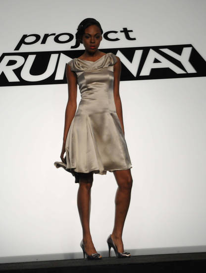 "Shirin Askari's design from the first challenge of ""Project Runway"" Season 6"