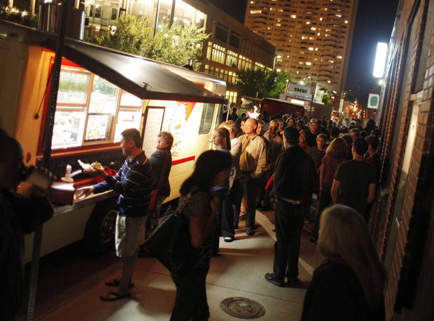 Food trucks were among the features at last year's  H&8th street market event. Photo by Doug Hoke, The Oklahoman Archives <strong>Doug Hoke - THE OKLAHOMAN</strong>