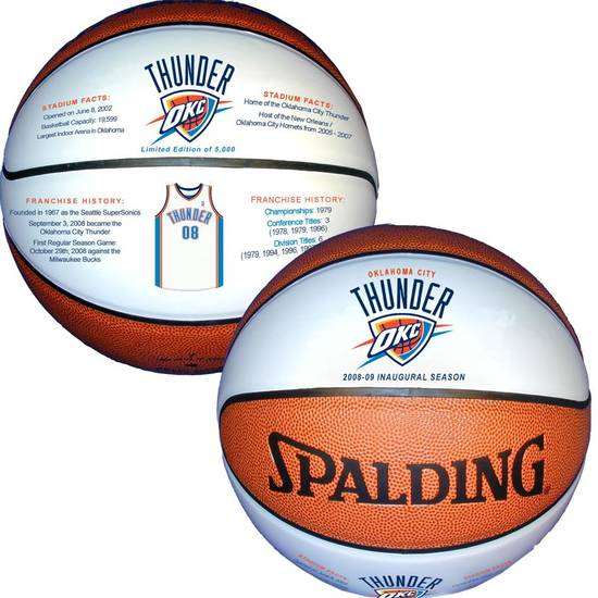 Commemorative Thunder basketball