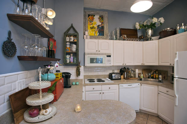 The kitchen of Christian Siriano's New York City apartment is featured, September 11, 2012. (Karl Merton Ferron/Baltimore Sun/MCT)