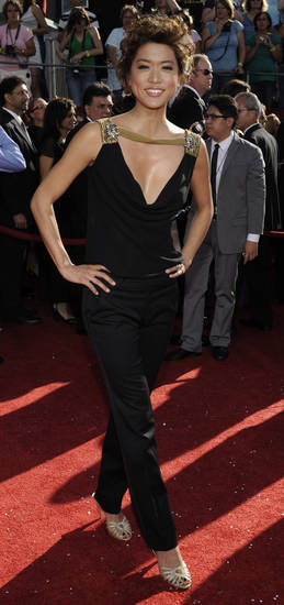 at the 60th Primetime Emmy Awards in Los Angeles, Sunday, Sept. 21, 2008.  (AP Photo/Chris Pizzello)