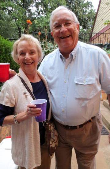Mary Ann Markey, Bill Brown were at the party. (Photo by Helen Ford Wallace).