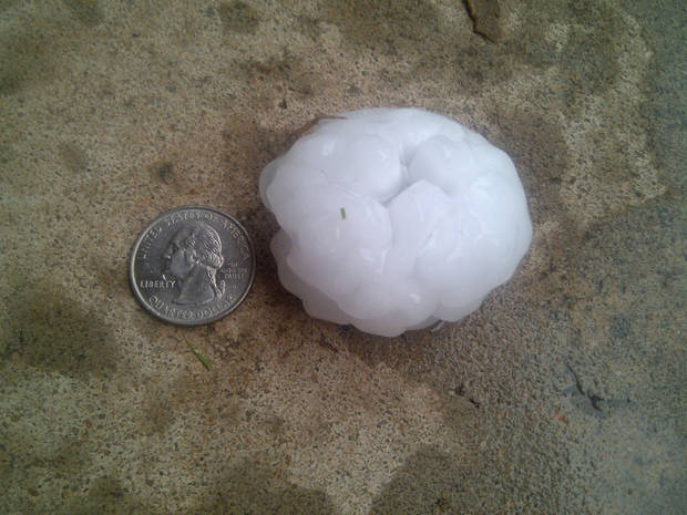 Hail in Fairview, Ok 09-17-11@7:30pm