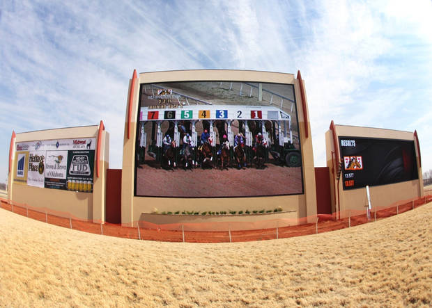 Racing fans will see new high-definition video boards today at Remington Park. Photos Provided by Remington Park