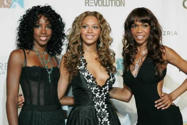 Members of the R&B group Destiny's Child (from left) Kelly Rowland, Beyonce and Michelle Williams attented the VH1 Fashion Rocks Concert
