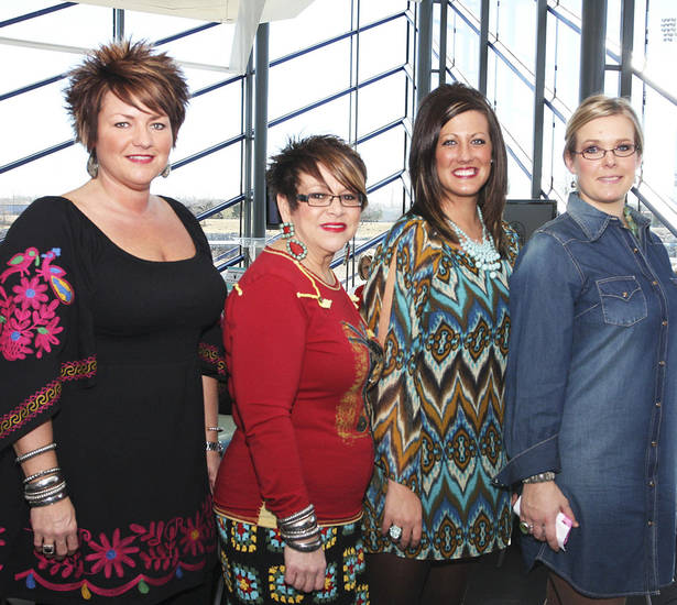 Carissa Stewart, Pam Queen, Randi Newman, Jamie Graham. Photos by David Faytinger for The Oklahoman