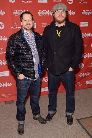 "From left, Edmond filmmaker Casey Twenter and Jeff Robison, who co-wrote the drama ""Rudderless,"" attend the premiere of the film at the 2014 Sundance Film Festival, on Friday, Jan. 24, 2014, in Park City, Utah. Photo provided."