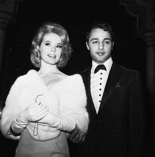 Sal Mineo and Joey (cq) Heatherton at Hollywood Foreign Press Golden Globe awards on March 10, 1964 in Hollywood, Los Angeles. (AP Photo/Harold Matosian)