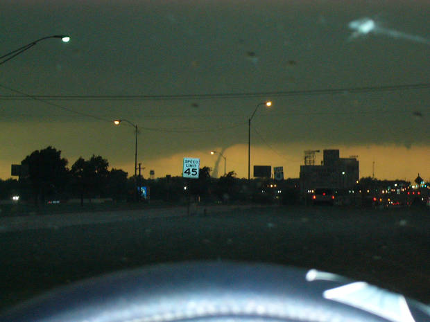 This is a picture I took 4/24/06 of the second tornado hitting El Reno. We were at 39th and Sara Road.<br/><b>Community Photo By:</b> Sonia Hudson<br/><b>Submitted By:</b> Sonia,