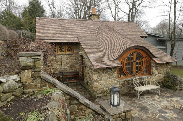 Shown is an exterior view of the �Hobbit House� Tuesday, Dec. 11, 2012, in Chester County, near Philadelphia. Architect Peter Archer has designed a �Hobbit House� containing a world-class collection of J.R.R. Tolkien manuscripts and memorabilia. AP photo
