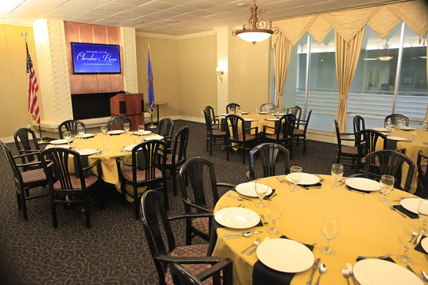 The Cherokee Room  was renovated during a $450,000 project that took more than a year.