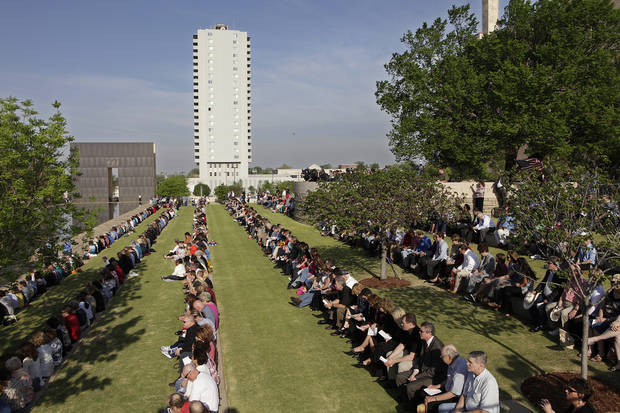 Day of Remembrance Ceremony, Tuesday, April 19, 2011.  This was the 16th annual Oklahoma City Bombing Memorial ceremony.   Photo by David McDaniel, The Oklahoman