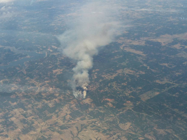 Fire pic from 36kft