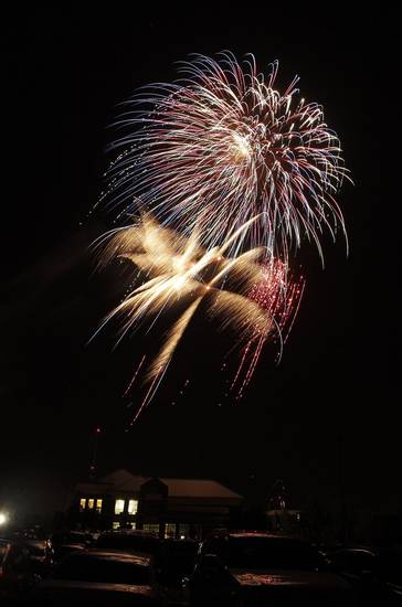 Fireworks show concluding LibertyFest at UCO Monday, July 4, 2011. Photo by Doug Hoke, The Oklahoman.