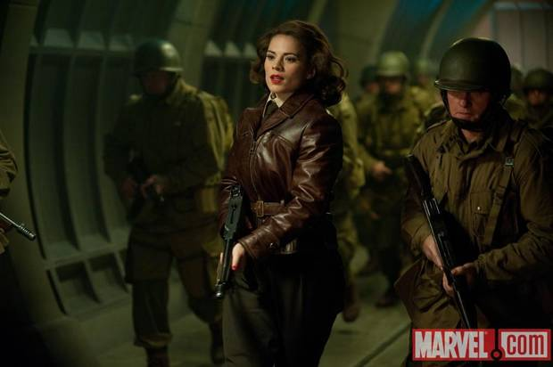 "Hayley Atwell as Peggy Carter in ""Captain America: The First Avenger."""