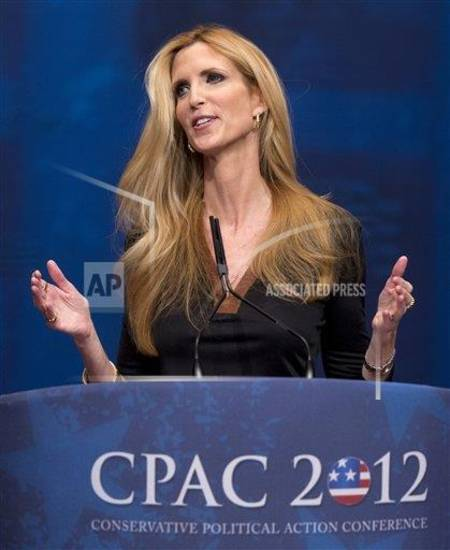 Conservative political commentator Ann Coulter. (AP Photo)