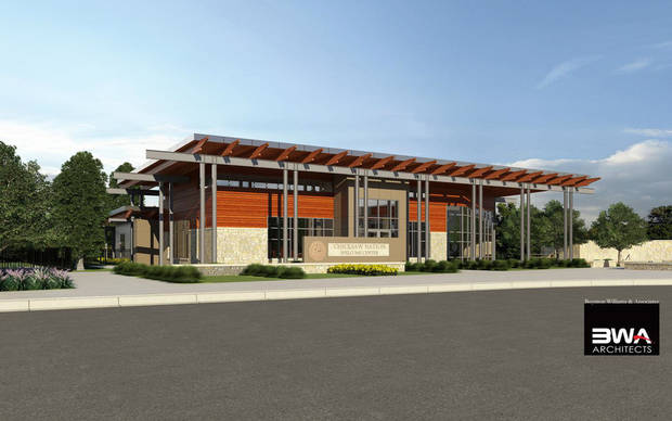 A rendering of the Chickasaw Nation Welcome Center, under construction in Davis. <strong> - Provided</strong>