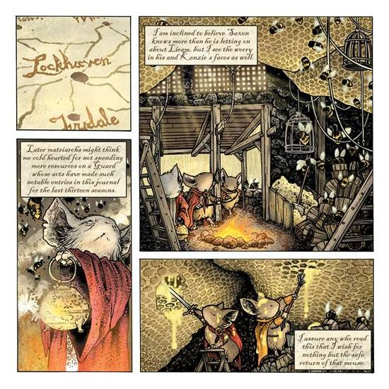 A page from the Free Comic Book Day Mouse Guard book.