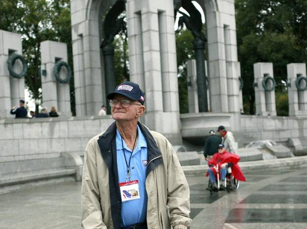 during an honor flight /tour of memorials at in Washington D.C. on Wednesday, Oct. 12, 2011. Photo by John Clanton, The Oklahoman
