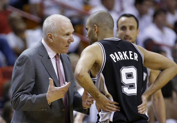 The San Antonio Spurs have money to spend in the offseason. (AP Photo/Wilfredo Lee)