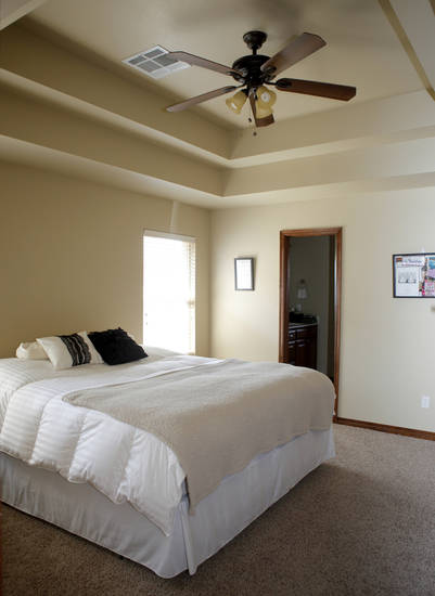 The bedroom of Jeremiah and Kayleen Burton in Oklahoma City, Tuesday, June 26, 2012. The Burtons bought their home through the OHFA Advantage program. Photo by Bryan Terry, The Oklahoman