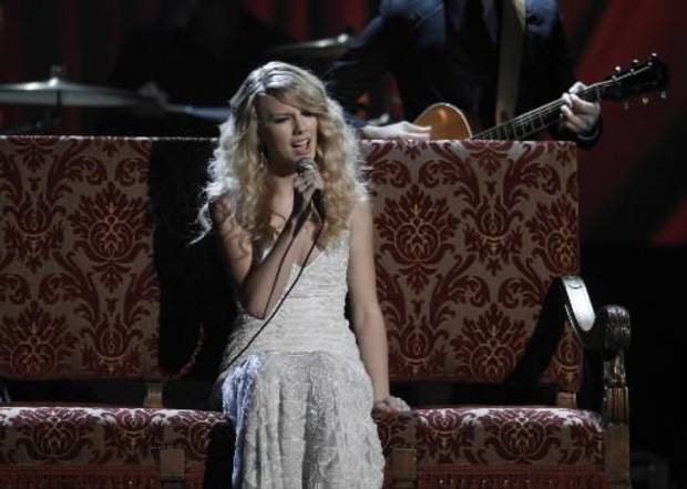 Taylor Swift performed during last year's American Music Awards (AP Photo by Matt Sayles)
