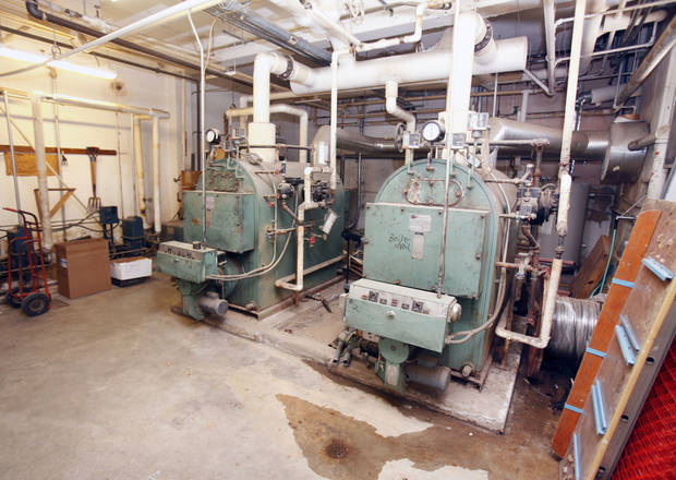 This is the boiler room at Emerson High School in Oklahoma City, OK, Tuesday, May 24, 2011. By Paul Hellstern, The Oklahoman ORG XMIT: KOD
