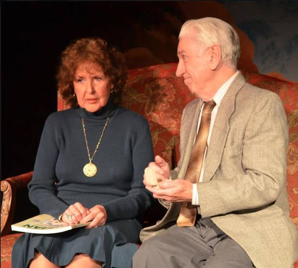 "Jane Hall as Carol Reynolds and Paul Smith as Ralph Bellini in Carpenter Square Theatre's production of ""The Last Romance."" Photo provided"