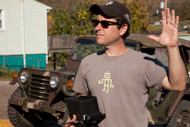Director/writer/producer J.J. Abrams on the set of SUPER 8, from Paramount Pictures.