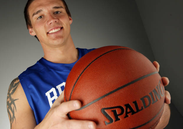HIGH SCHOOL BASKETBALL: Little All-City boys basketball player of the year Ryan Spangler of Bridge Creek High School poses for a photo in the OPUBCO studio, Monday, April 4, 2011. Photo by Nate Billings, The Oklahoman ORG XMIT: KOD