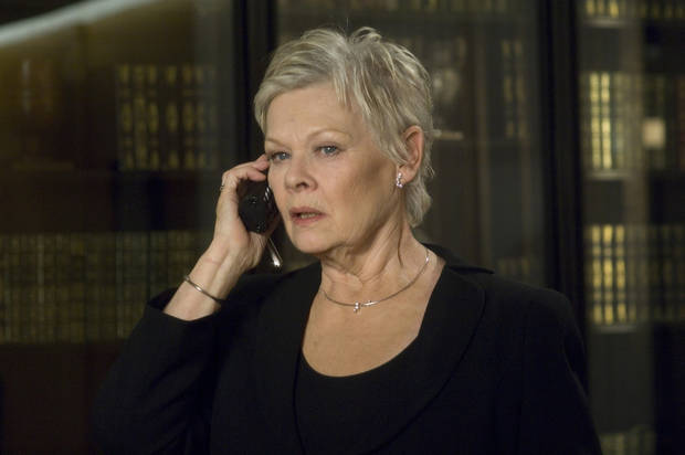 "This undated publicity photo provided by Sony Pictures shows Judi Dench playing the head of MI6, ""M,"" in the newest James Bond film ""Casino Royale."" The greatest change in women's position in the Bond saga, is that the agent's boss, M, is a woman. (AP Photo/Sony Pictures, Jay Maidment, File)"
