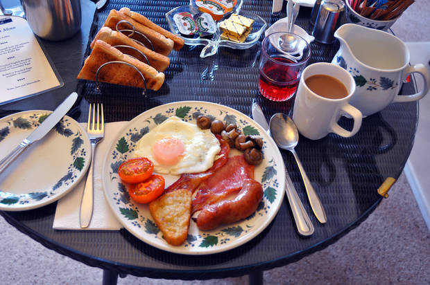 Wherever you travel in the British Isles, you�ll find a version of the stick-to-your ribs breakfast fry. (Photo by Cameron Hewitt)