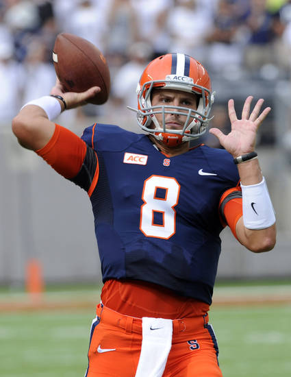 Former Oklahoma quarterback Drew Allen lost Syracuse's starting job after a rough two-game start to the season. AP PHOTO