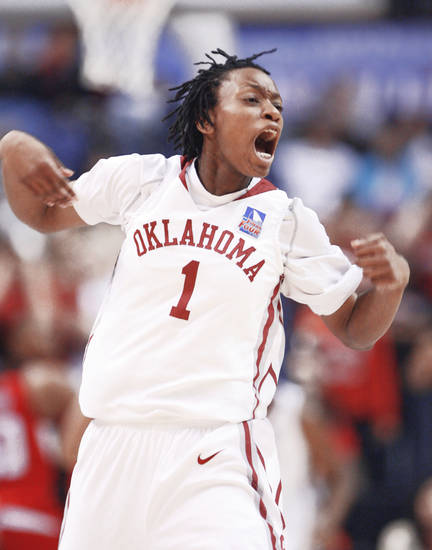 Nyeshia Stevenson's final shot of the game looked like it might go through for the Sooners. Photo by Steve Sisney, The Oklahoman