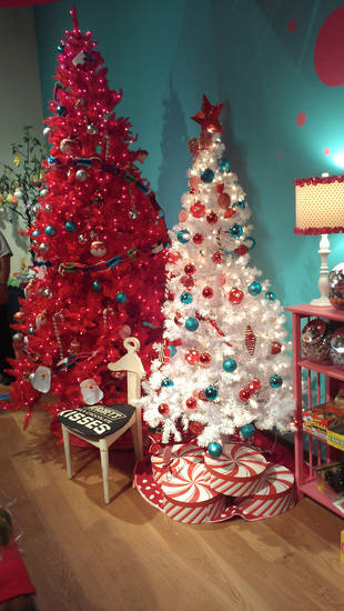 Be Tree-ative: Trees like this Tupperware Tree, featured this year at the Orlando Museum of Art?s Festival of Trees, stretch the imagination, and challenge visitors to get out of their holiday décor ruts . Photos by Marni Jameson   <strong></strong>