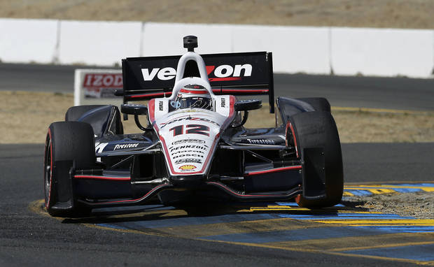 Will Power,  of Australia, takes a corner during the finals of the IndyCar auto race in Sonoma, Calif., Sunday, Aug. 25, 2013. (AP Photo/Rich Pedroncelli)