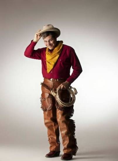 """Tom Huston Orr plays Will Rogers in Lyric Theatre's """"The Will Rogers Follies."""""""