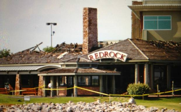 Redrock Canyon Grill after a fire Wednesday morning. Photo by Steve Gooch