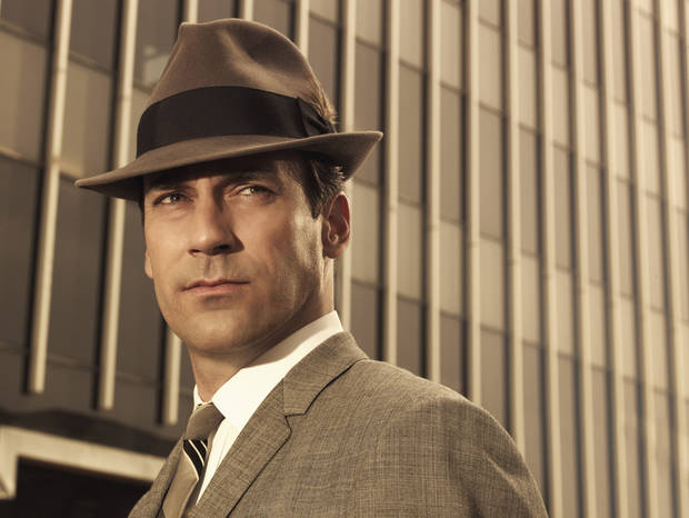 "This photo released by AMC shows Jon Hamm as Don Draper in ""Mad Men"". (AP Photo/AMC Frank Ockenfels)**NO SALES** ORG XMIT: NYLS202"