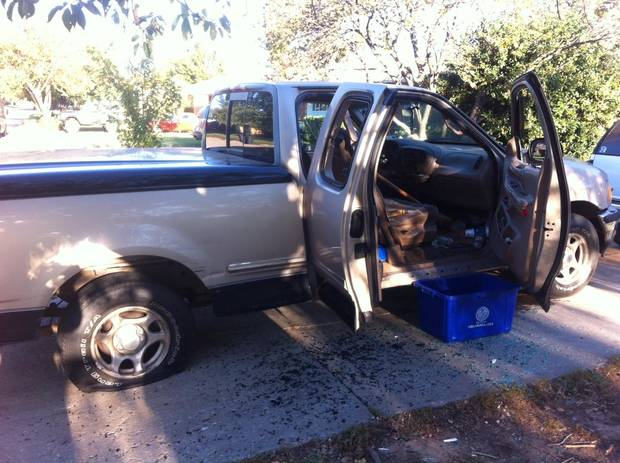 Truck involved in machete attack - Photo provided