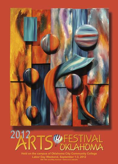 Tulsa mixed-media painter Neil Cluck is the featured artist for this year's Arts Festival Oklahoma at Oklahoma City Community College, so his work is featured on the 2012 event poster. Photo provided. <strong></strong>