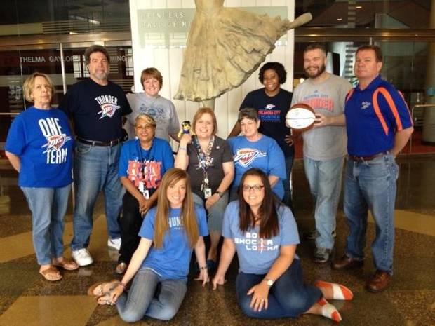 Civic Center Staff Know How to THUNDER UP