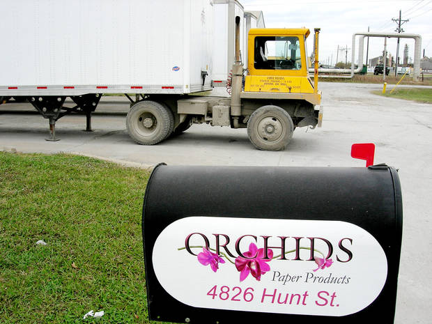 Left: Orchids Paper Products shown on Hunt Street in Pryor&amp;#8217;s Mid America Industrial Park. PHOTOS BY Richard Mize, THE OKLAHOMAN