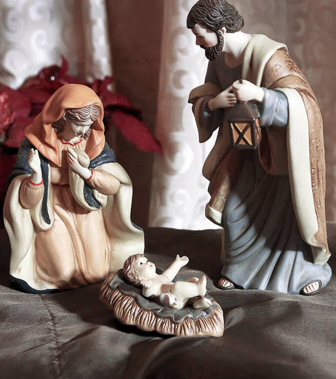 "Close to 800 depictions of the nativity scene, in a wide variety of media and sizes, featuring a number from around the world, are displayed throughout  the  Church of Jesus Christ of Latter-day Saints, 5020 NW 63,  through Sunday, Dec. 16, 2012.  The display is called ""Glory to the newborn King, a Nativity Display and Cantata""  The musical program includes an hour of traditional and cherished Christmas carols, according to church officials. The display is free and open for public viewing from 1 until 9 p.m. The cantata begins at 7 p.m.   Photo by Jim Beckel, The Oklahoman"