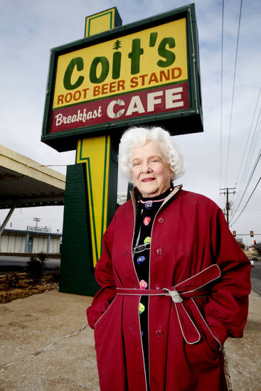 Ann Coit poses for a photo at  Coit's Drive-In in Oklahoma City , Tuesday November, 22,  2011. Oklahoman Photo by Steve Gooch
