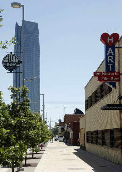 The Hart Building in the historic film district west of downtown on Sheridan is undergoing renovation in Oklahoma City Wednesday, July 18, 2012. Photo by Doug Hoke, The Oklahoman.