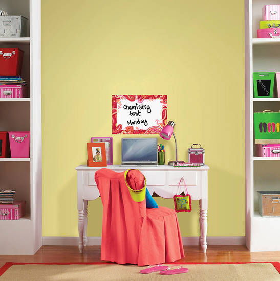 This photo provided by Brewster Home Fashions shows the WallPops dry-erase message board that can help keep a student�s desk area organized. AP PHOTO/ Brewster Home Fashions
