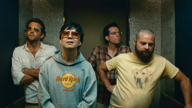(L-r) BRADLEY COOPER as Phil, KEN JEONG as Mr. Chow, ED HELMS as Stu and ZACH GALIFIANAKIS as Alan in Warner Bros. Pictures� and Legendary Pictures� comedy �THE HANGOVER PART II,� a Warner Bros. Pictures release.