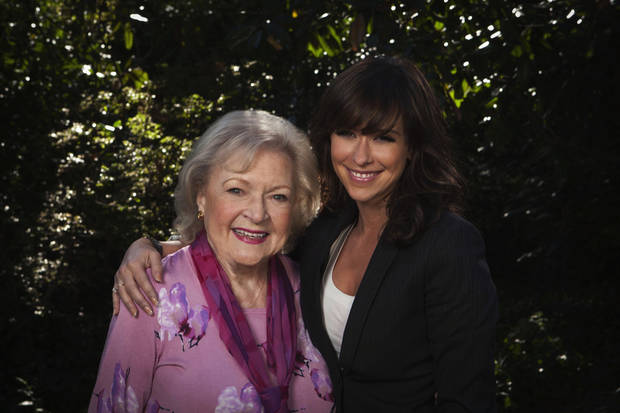 "From left, Betty White and Jennifer Love Hewitt of ""The Lost Valentine"" - Hallmark Hall of Fame Photo by Erik Heinila"